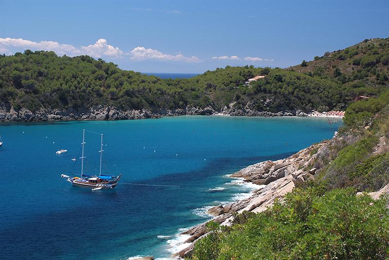 Der Strand von Fetovaia - Insel Elba