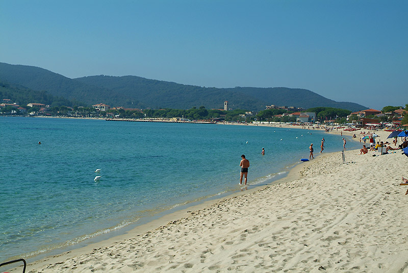 The beach of Marina di Campo - Elba Island